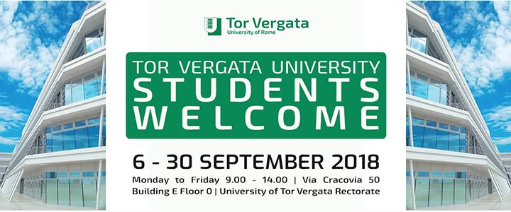 Welcome weeks 6 September – 31 October 2018